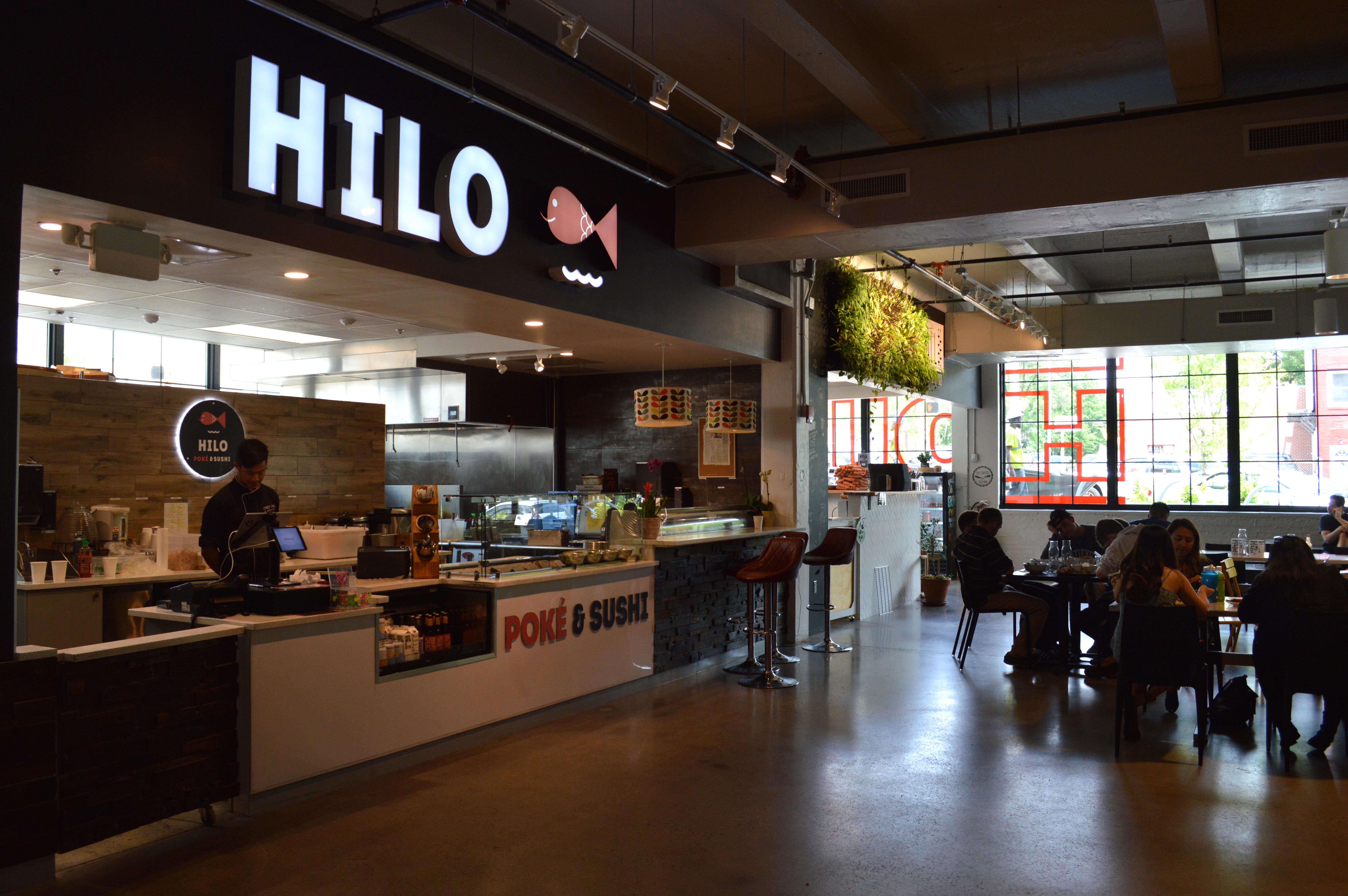 Hilo serves up poke bowls and sushi wraps.